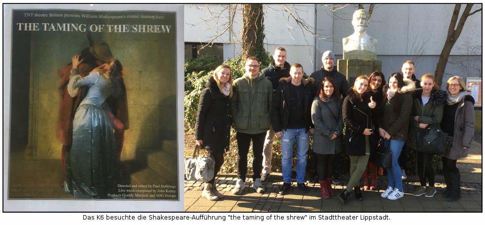 K6 des Sauerland-Kollegs besucht Shakespeare-Aufführung